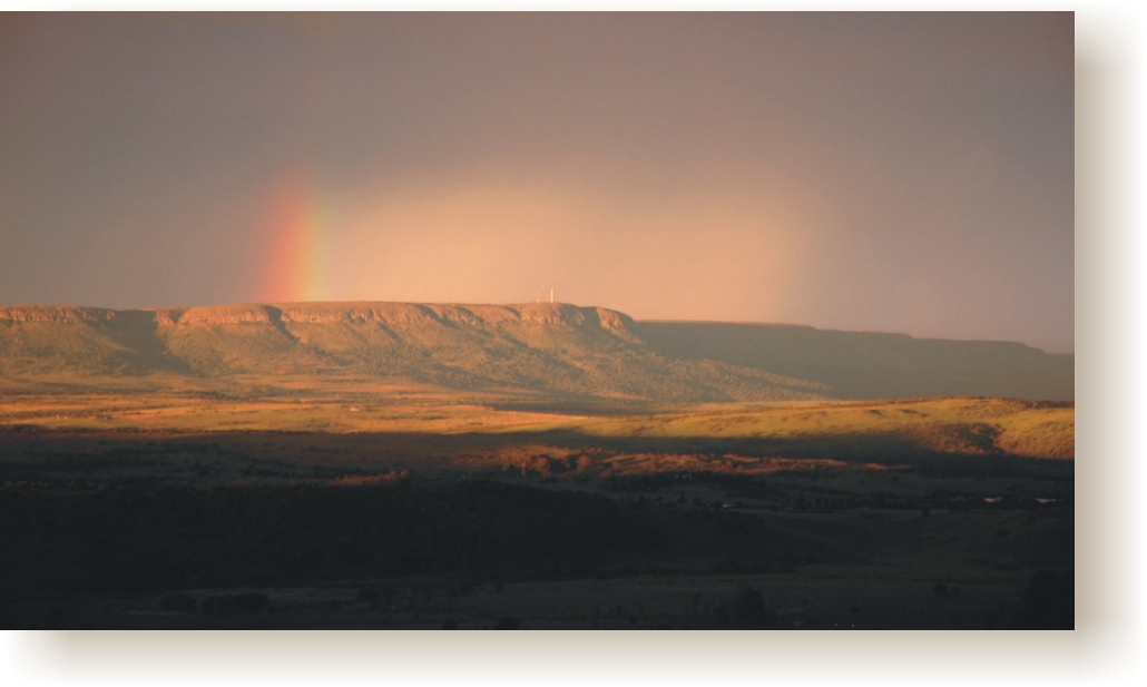 Rainbow over Magaliesberg